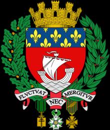 Parīzes lielais ģerbonis (avots – Vikipēdija).