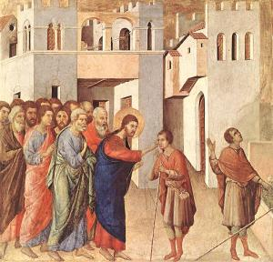 Kristus dziedina aklo (www.breviary.net)