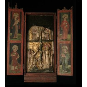 14. gs. vērtņu altāra fragments (Viktorijas un Alberta muzejs)