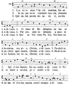 "Kyrie ""Lux et origo"" ar tropu (Laudes festivae, Solesmes, 1940)"