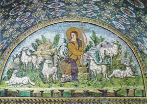 Labais gans. 5. gs. Mozaīka Gallas Placidijas mauzolejā Ravennā (5. gs.) (Bibleartists)