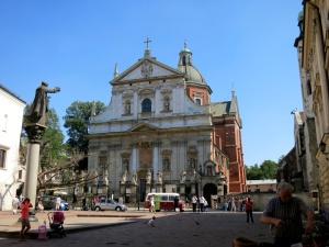 Sv. Pētera un Pāvila baznīca Krakovā, kur notiks 2016. g. PJD tradicionālie latīņu dievkalpojumi
