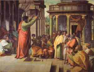 Sv. Pāvils sludina Atēnās (breviary.net)
